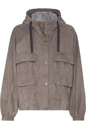 Brunello Cucinelli Women Leather Jackets - Suede outerwear