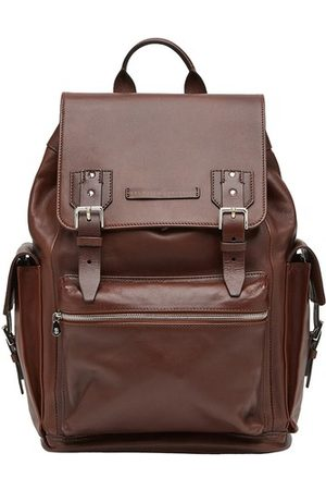 Brunello Cucinelli Men Rucksacks - Leather backpack