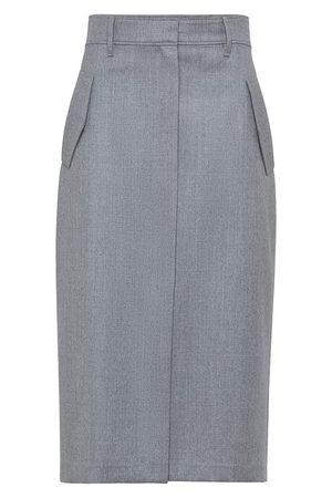 Brunello Cucinelli Women Pencil Skirts - Flannel skirt