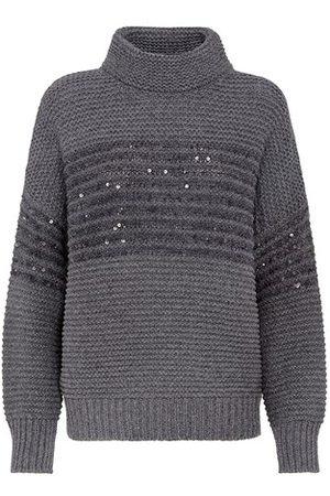 Brunello Cucinelli Women Turtlenecks - Wool, cashmere and silk sweater