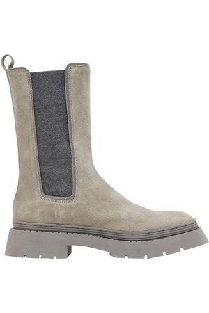 Brunello Cucinelli Women Chelsea Boots - Suede Chelsea boots