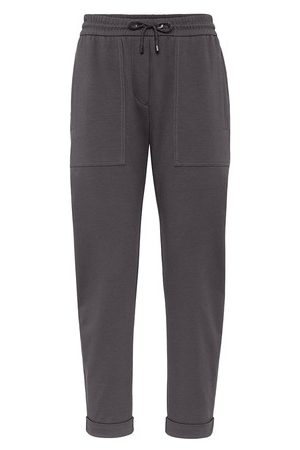 Brunello Cucinelli Women Pants - Lightweight French terry trousers