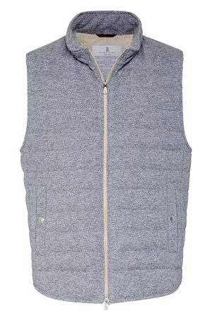 Brunello Cucinelli Men Gilets - Knit down vest