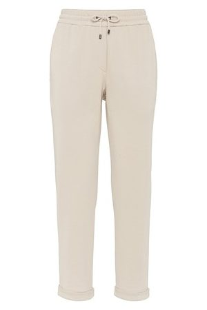 Brunello Cucinelli Women Straight Leg Pants - French terry trousers