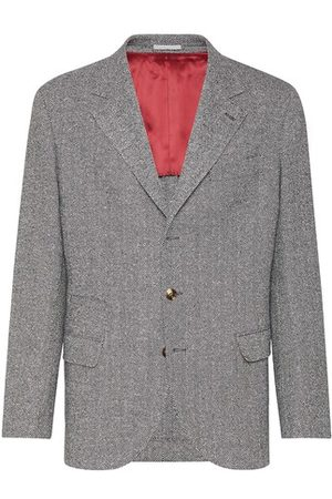 Brunello Cucinelli Men Blazers - Flannel blazer