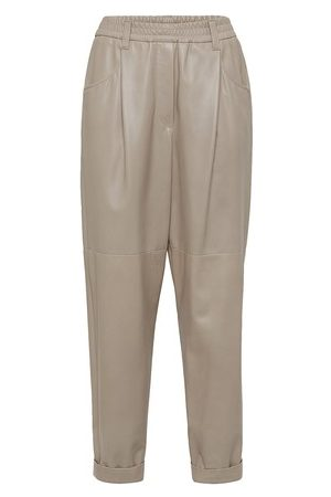 Brunello Cucinelli Nappa leather trousers