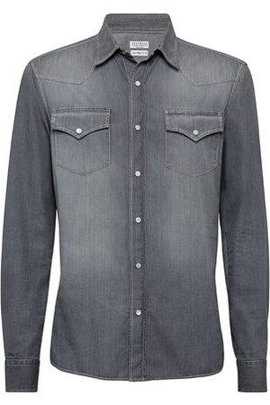 Brunello Cucinelli Men Denim - Denim shirt