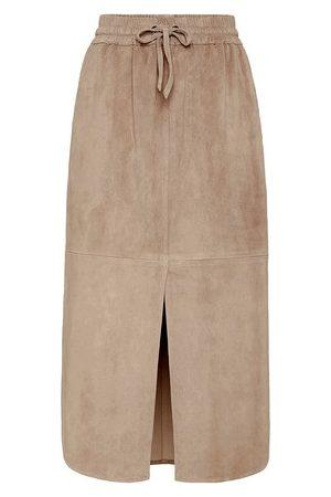 Brunello Cucinelli Women Leather Skirts - Suede skirt