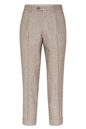 Brunello Cucinelli Men Pants - Wool, silk and cashmere trousers
