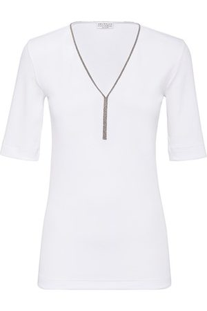 Brunello Cucinelli Ribbed jersey T-shirt