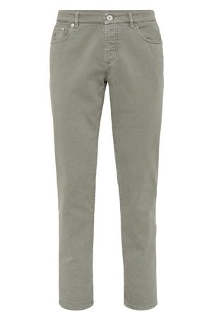 Brunello Cucinelli Men Straight - Dyed denim trousers