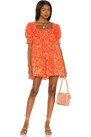 Lovers + Friends Reston Mini Dress in Orange.