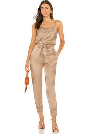 Cinq A Sept Finnley Jumpsuit in Taupe.
