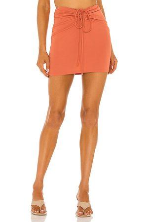 NBD Cousteau Mini Skirt in Rust.