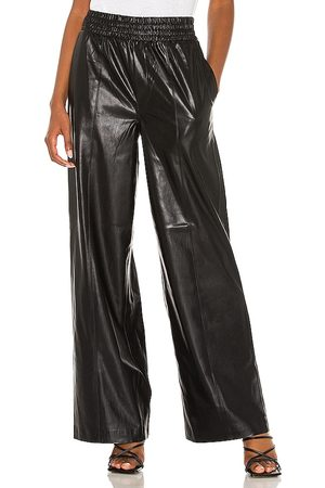 BLANK NYC Faux Leather Wide Leg in Black.