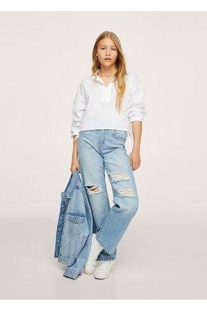 MANGO TEEN Girls Polo Shirts - Polo style cotton shirt
