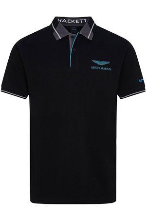 Hackett Men Polo Shirts - Amr Jacquard Short Sleeve Polo L / Grey