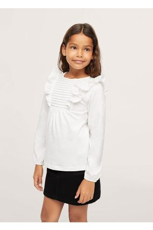 MANGO Long -sleeved t-shirt with ruffles
