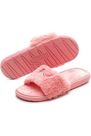 Puma Women's Cool Cat Fluffy Slide Sandals in Pink/Peony Size 6.0 Fur