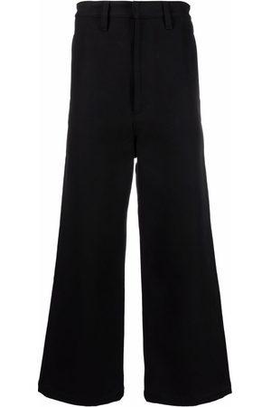 Ami Men Wide Leg - Logo patch wide-leg trousers