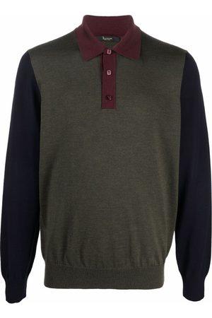 BILLIONAIRE Men Polo Shirts - Colour-block long-sleeved polo top