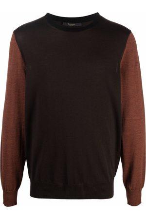 BILLIONAIRE Men Sweatshirts - Colour-blocked wool jumper