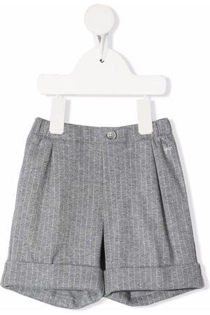 Il gufo Bermudas - Striped cotton bermuda shorts - Grey