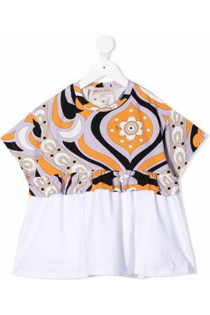 Emilio Pucci Girls Tops - Swirl floral-print top