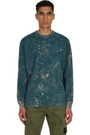 Stone Island Men Long Sleeve - Off-dye ovd treatment longsleeve t-shirt NAVY S