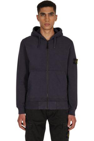 Stone Island Men Sports Hoodies - Basic zip hooded sweatshirt INK S