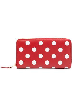 Comme des Garçons Women Wallets - Polka dot-print zip-around wallet
