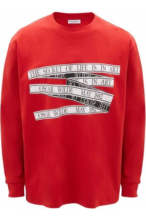 J.W.Anderson Men T-shirts - Oscar Wilde print cotton T-shirt