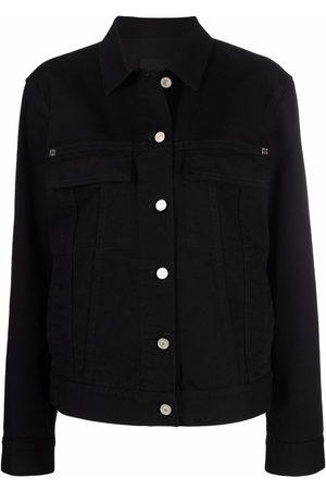 Givenchy Women Denim Jackets - 4G plaque denim jacket