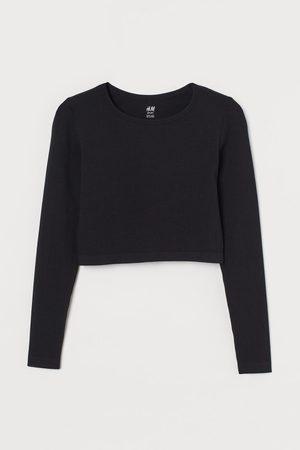 H&M Women Sports T-shirts - Cropped Seamless Sports Top