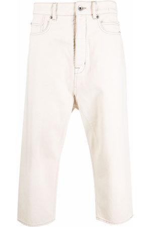 Rick Owens Men Straight - Straight leg cropped jeans - Neutrals