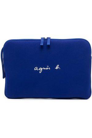 AGNÈS B. Logo-print zip-up laptop bag