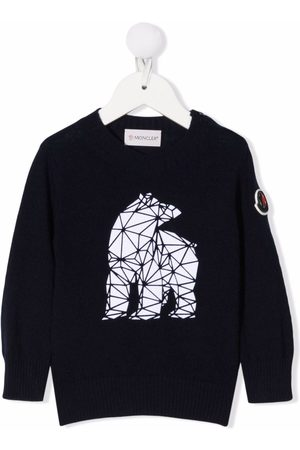 Moncler Hoodies - Geometric-bear sweatshirt
