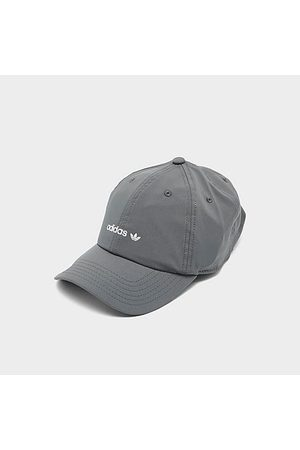 adidas Hats - Originals OG Relaxed Edge Taping Adjustable Strapback Hat in Grey/Graphite 100% Cotton