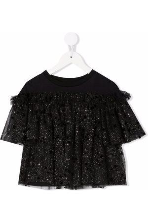 Simonetta Girls Blouses - Sequin embellished layered blouse