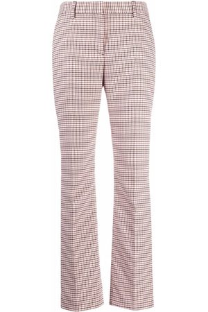 See by Chloé Women Straight Leg Pants - Check-print straight trousers - Neutrals