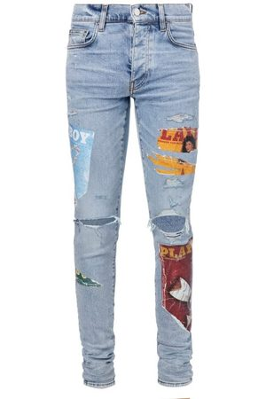 AMIRI Men Skinny - Playboy-print Skinny-leg Jeans - Mens