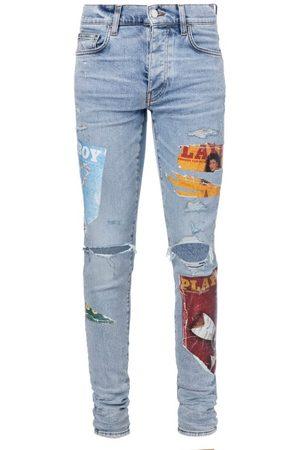 AMIRI Playboy-print Skinny-leg Jeans - Mens