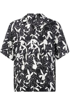 Amiri X Playboy Bunny-print Silk Short-sleeved Shirt - Mens