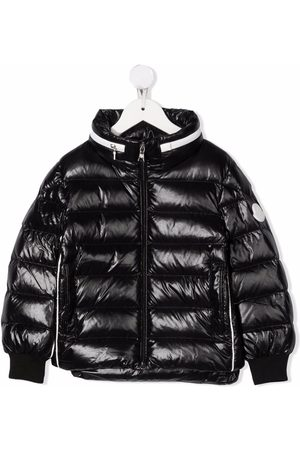 Moncler Boys Puffer Jackets - Koray contrast-trimmed down jacket