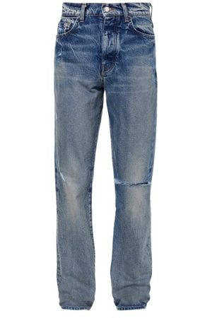 AMIRI Men Straight - Distressed Straight-leg Jeans - Mens