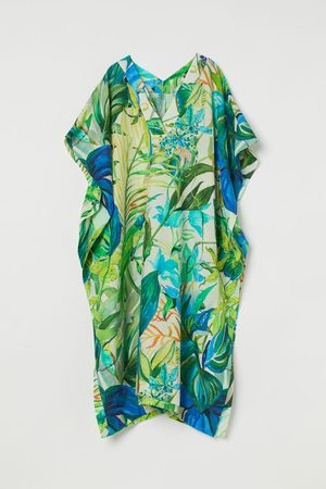 H&M Patterned Linen-blend Kaftan