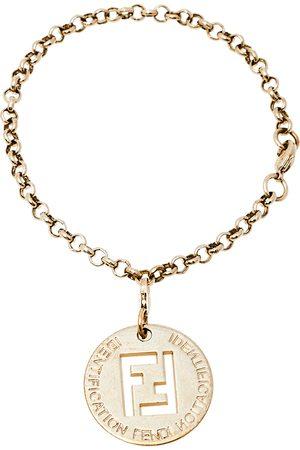 Fendi Identification Charm Tone Bracelet