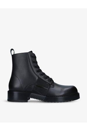 VALENTINO GARAVANI Men Biker Boots - VL7N lace-up leather boots