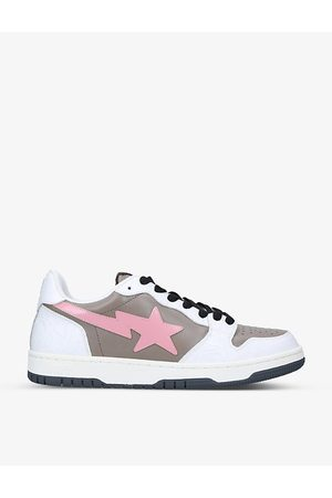 AAPE BY A BATHING APE Men Sneakers - BAPE STA abstract-print leather low-top trainers