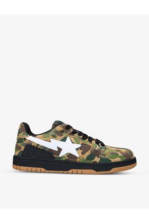AAPE BY A BATHING APE BAPE SK8 STA suede and leather mid-top trainers
